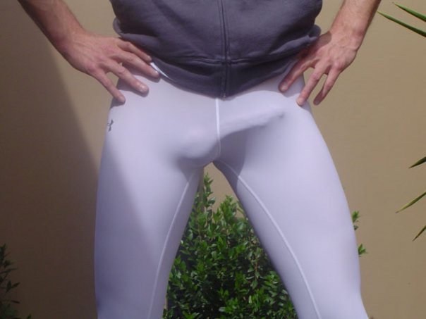 lycra running tight bulges White