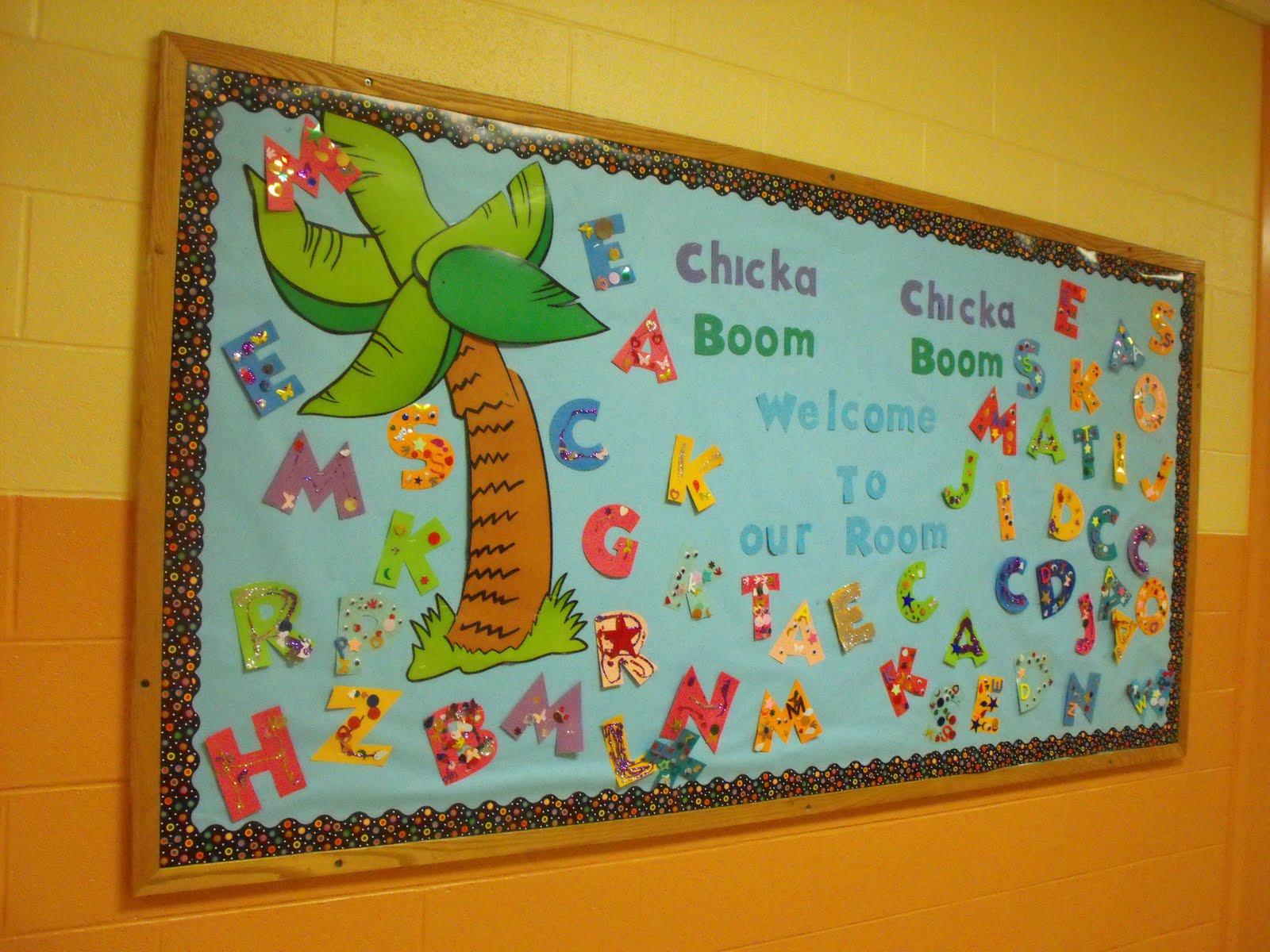 Scrap And Teach New Chicka Chicka Boom Boom Bulletin Board