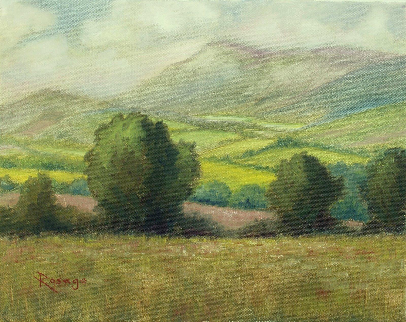Artistic Release Alla Prima Paintings By Bernie Rosage Jr Ireland Landscape Painting By Bernie Rosage Jr Available Now