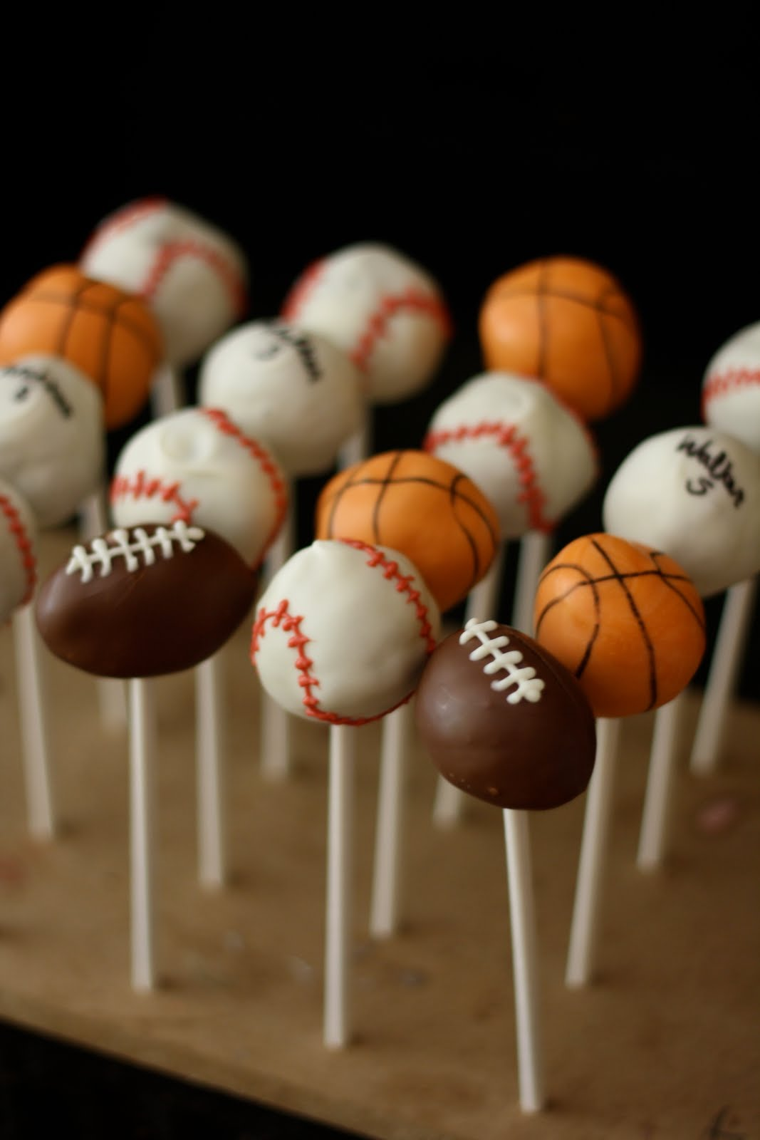 Food Recipes Sports Themed Cake Pops