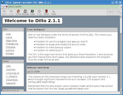 TuxArena Blog: How-To: Install Dillo 2 1 1 in Ubuntu 9 04