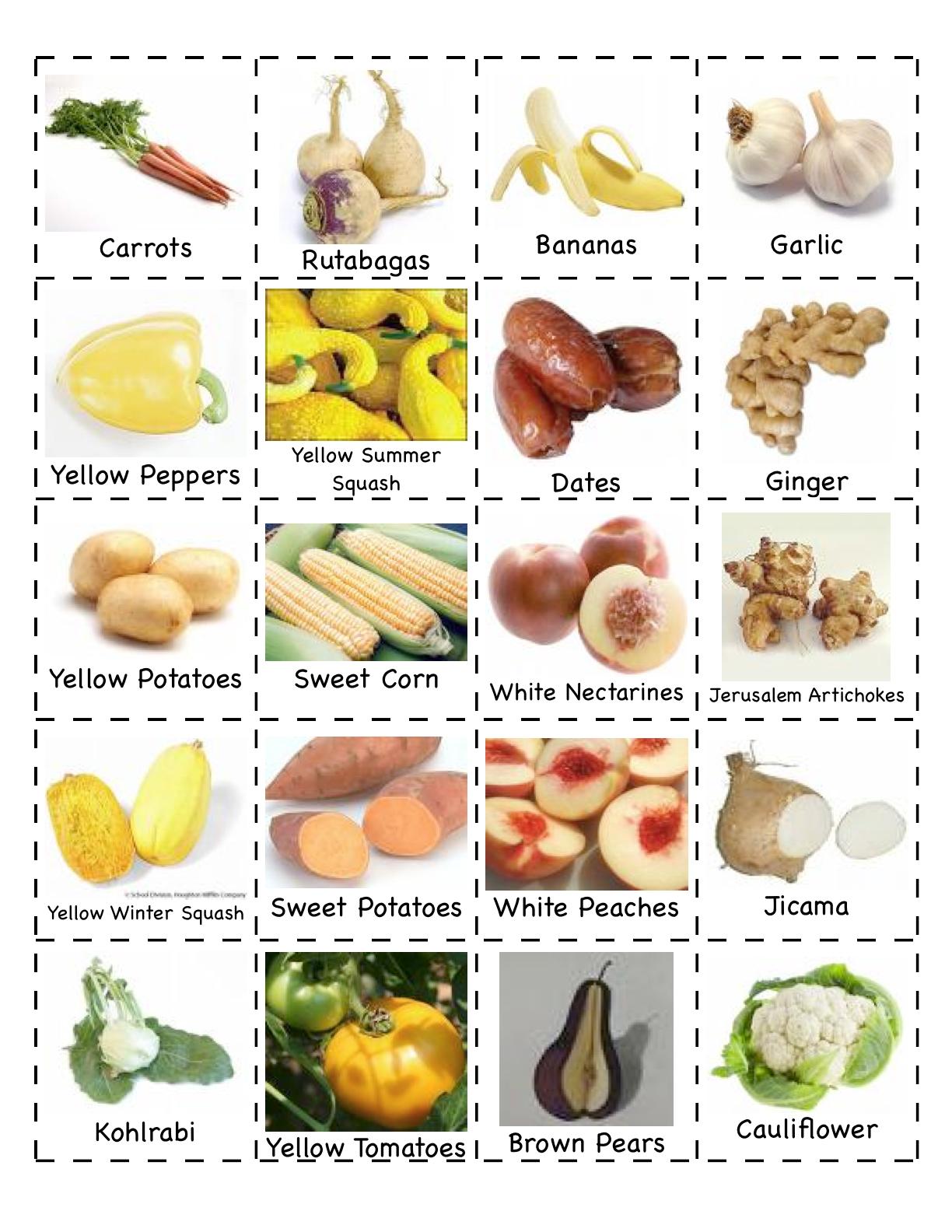 Angol Feladatok Mondokak Szinez K Fruits Vegetables