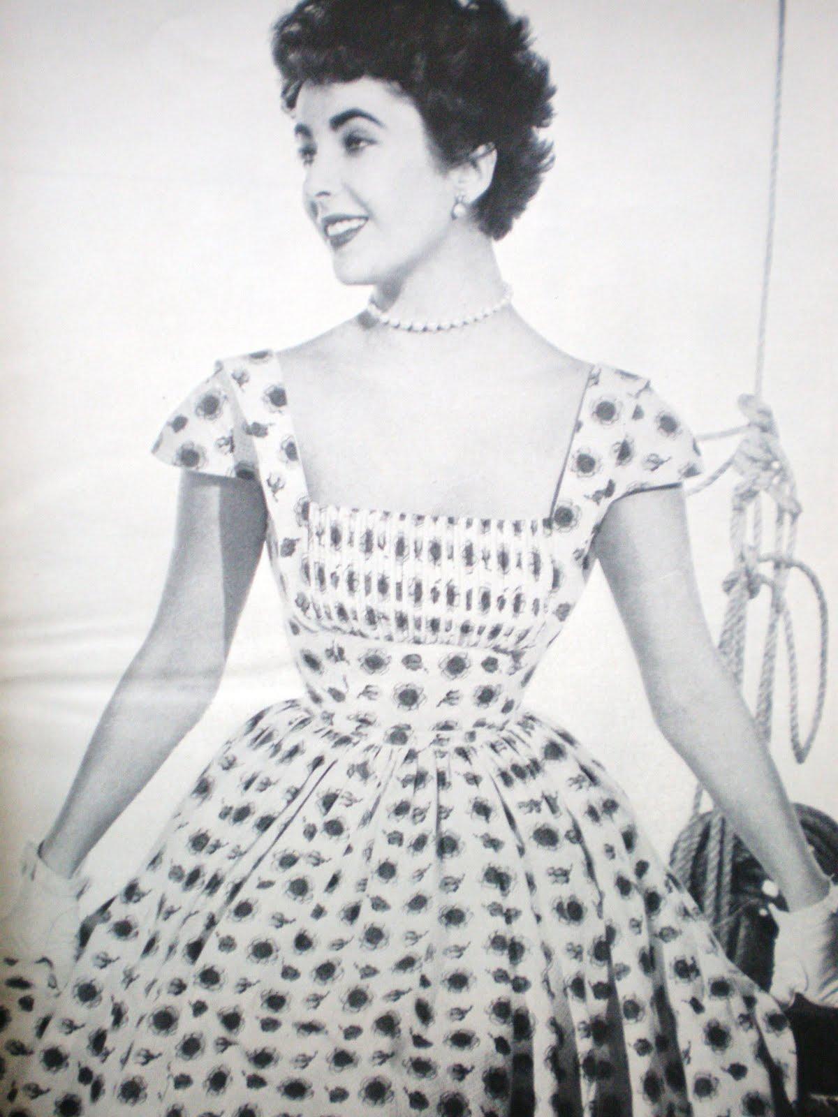 219a80d4f297 1950 s Vintage Dress Styles  Sew Summer Dresses Now! Liz Taylor