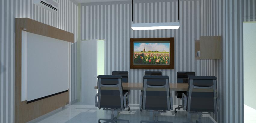 Renovasi Kantor Apartment Office Mr Faizal Machmud Desain Interior Ruang Tamu Minimalis