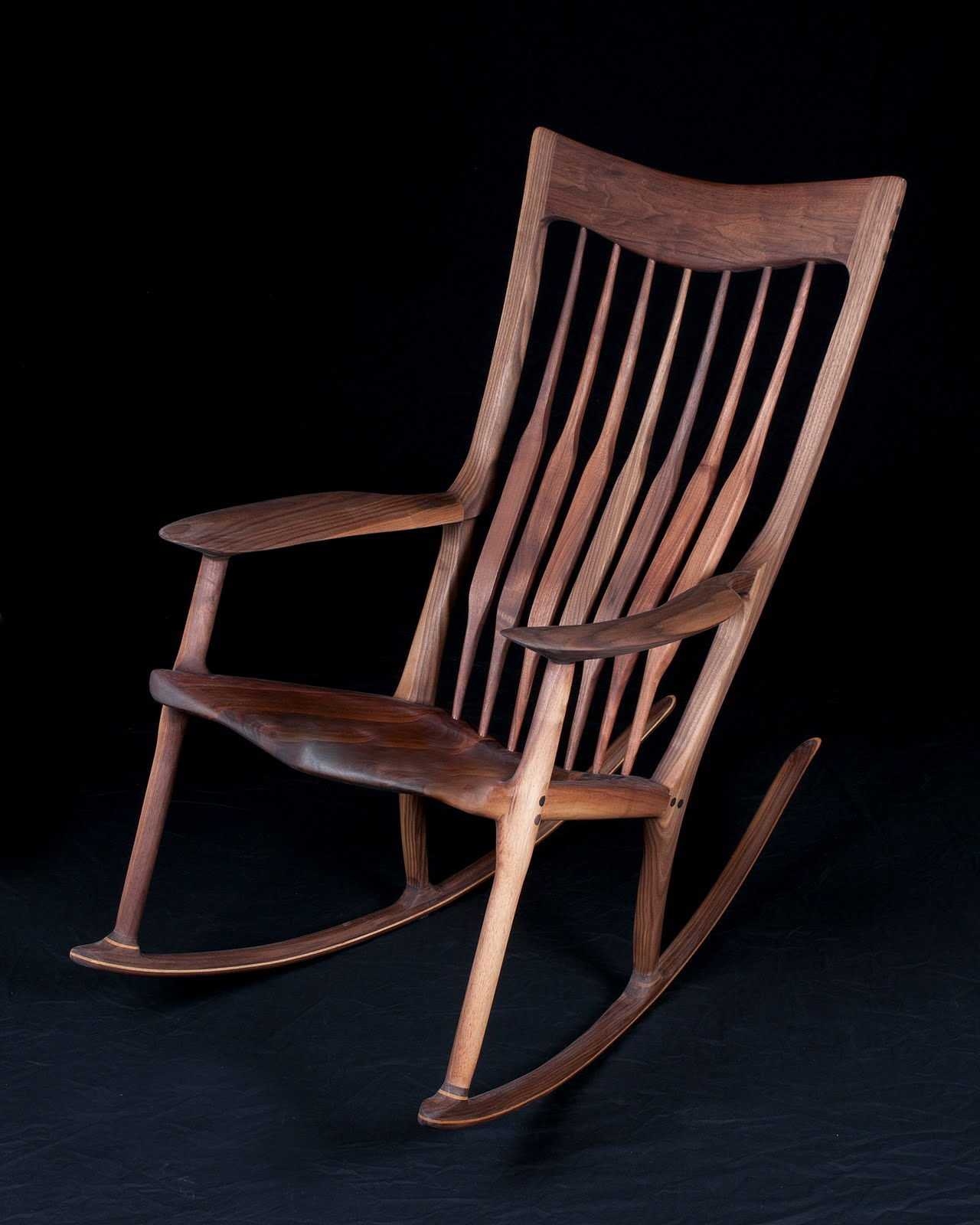 Looking For Rocking Chairs Pat Beurskens Woodworking Portfolio Sam Maloof Style