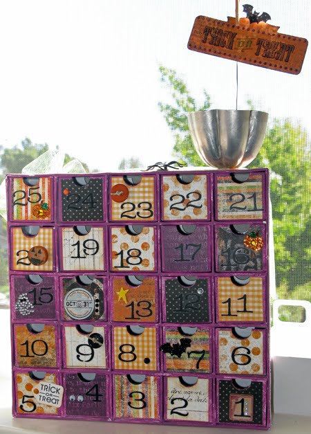 Ive Created This Adorable Advent Calendar Style Countdown Project To Help Those Anxiously Awaiting The Great Pumpkin Or Other Such Spookiness To Make It