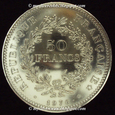 Silver Coins Collection 1976 France Hercules 50 Franc