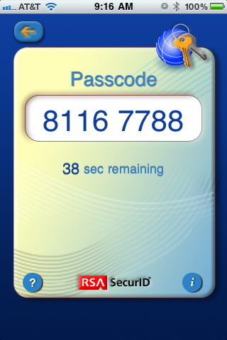 SwackNet: RSA SecurID Soft Token for iPhone - A Better