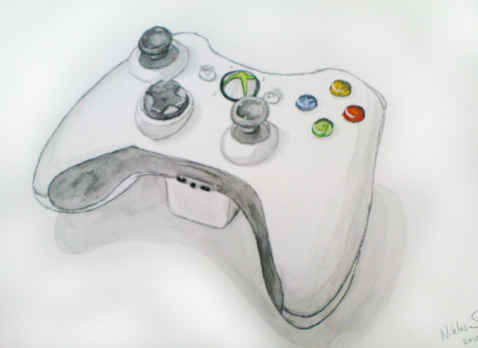 Xbox 360 Controller Drawing the xBox 360 controller