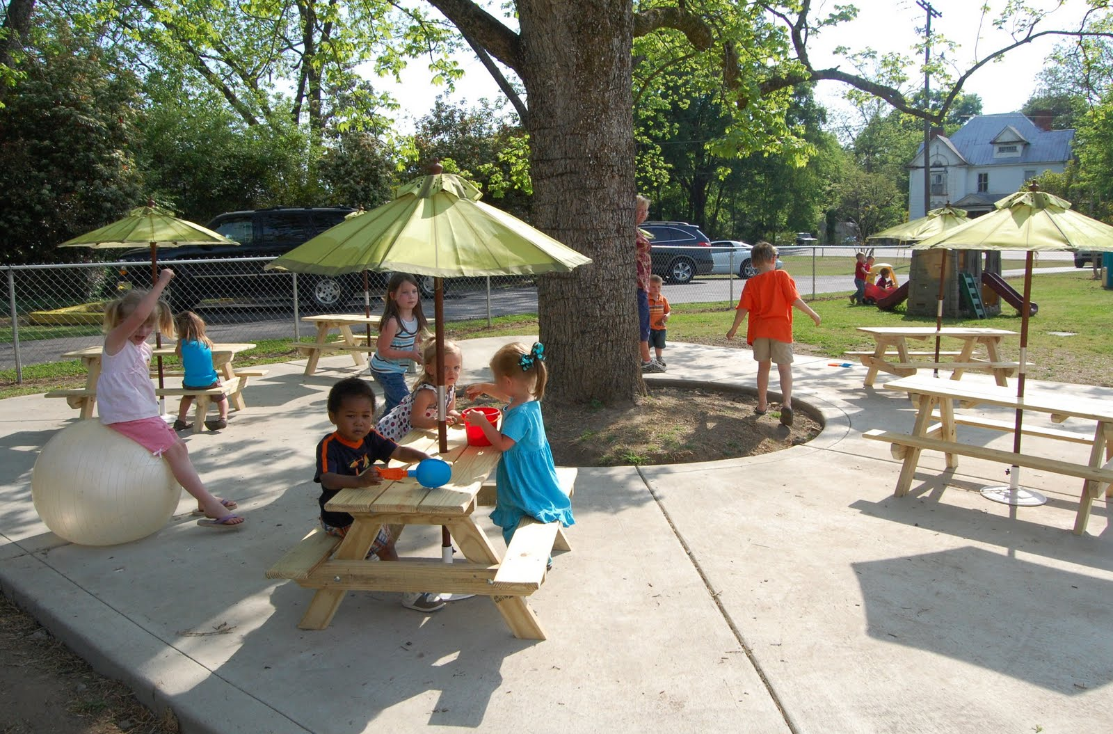 Amazing Grace: Picnic Tables