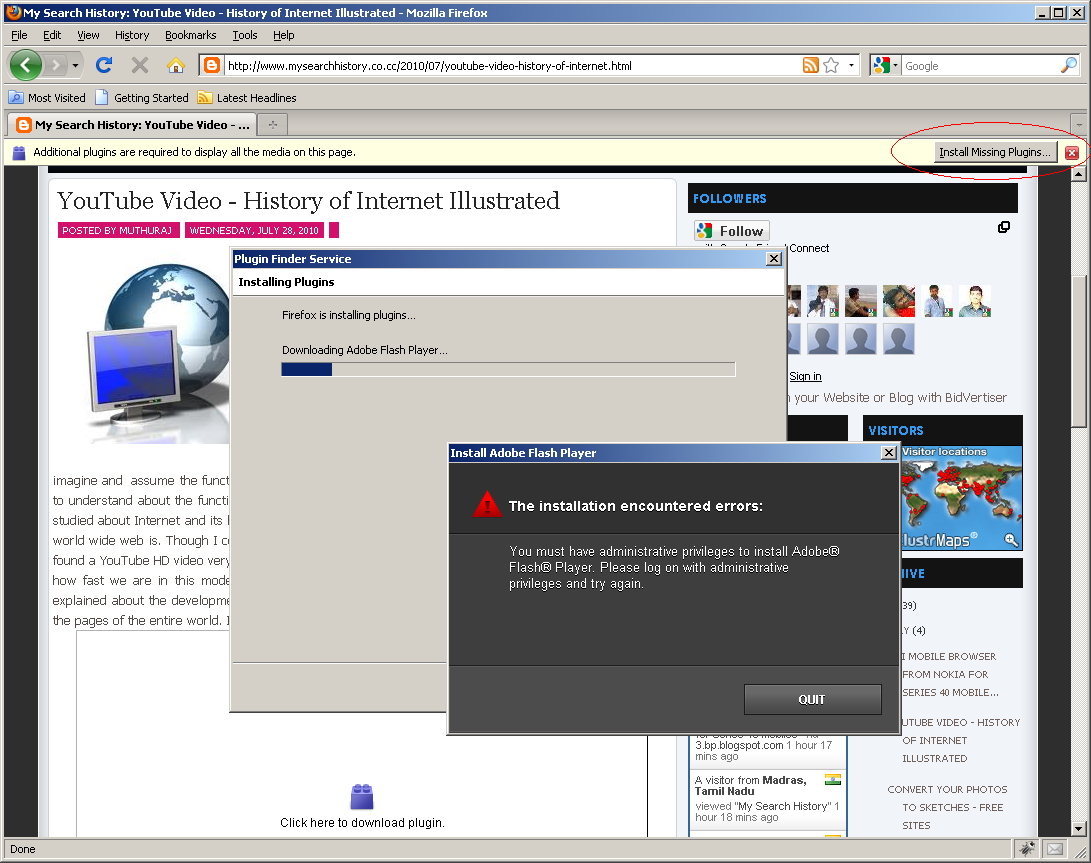 Install Flash Player Plugin in Firefox without Admin rights