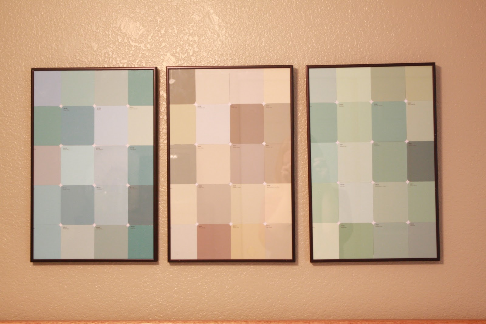 i freaking love these paint chip walls · i grabbed 3 then stopped at lowes to load up on some paint chips from their ... & Paint Chip Wall Art - 4.000 Wall Paint Ideas
