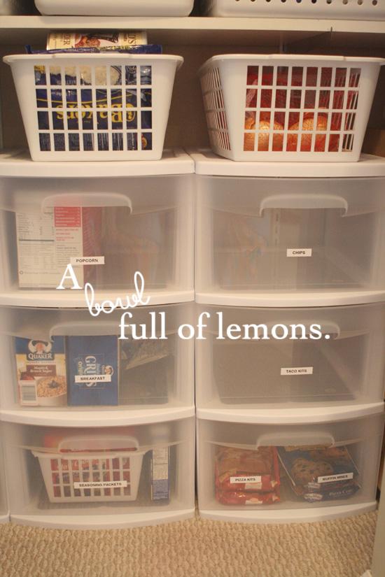 A Coat Closet Turned Pantry A Bowl Full Of Lemons