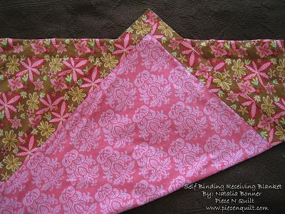 Piece N Quilt Self Binding Receiving Blanket Tutorial