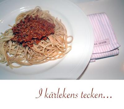 Spagetti med köttfärsås