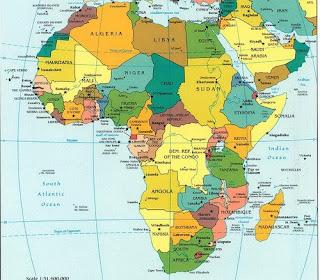 afrika kart med hovedsteder Utveksling i Afrika afrika kart med hovedsteder