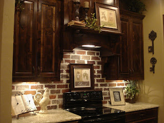 The Pear S Nest Antique Brick Backsplash Before And After