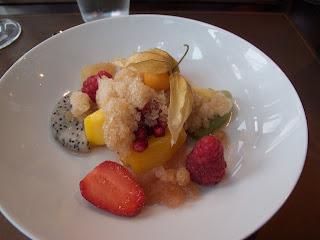 Fruit granita 58 Tour Eiffel Restaurant