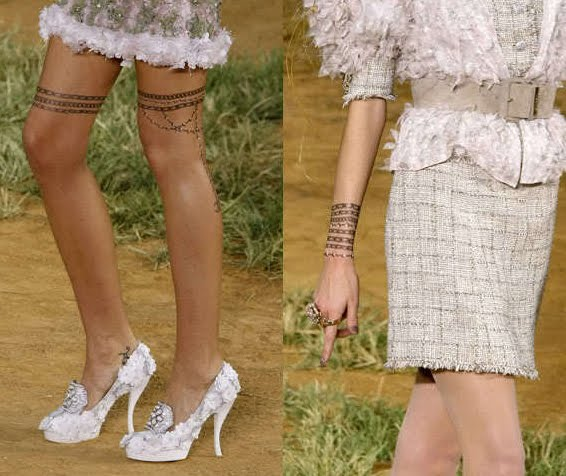Chanel iconic fake tattoos - fashion & beauty blog