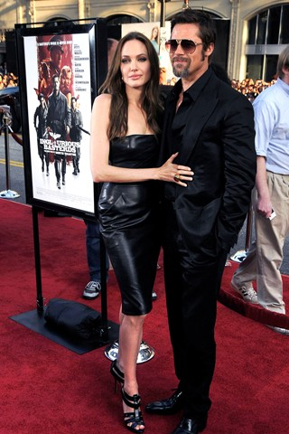Angelina Jolie in black leather dress on the red carpet | style blog