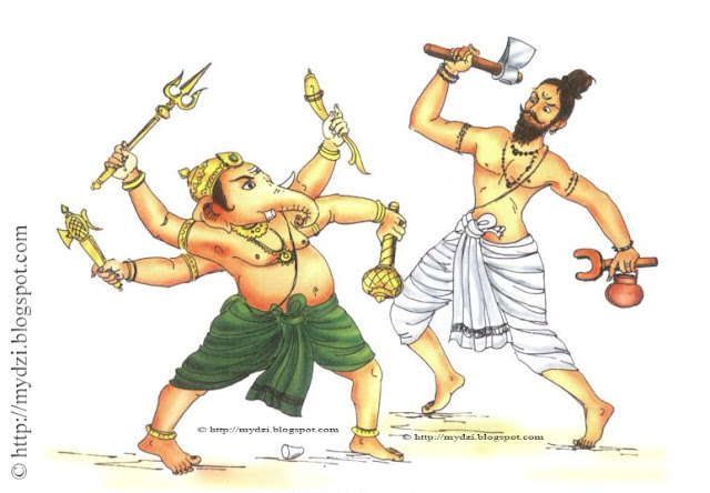 GANESHA Battle With ParshuRam