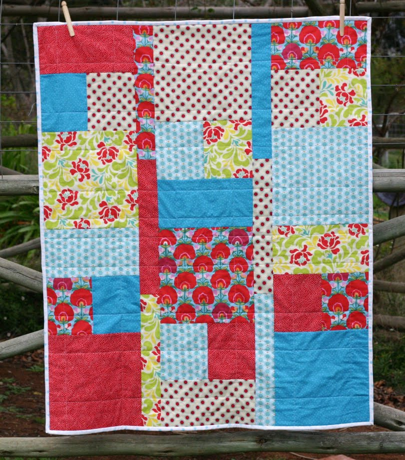 Kate Henderson Quilts Fat Quarter Baby Quilt Tutorial