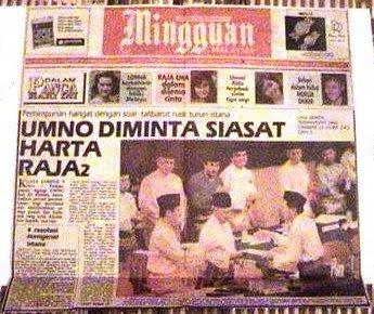 Wah, UMNO sudah jadi macam BPR la, boleh siasat harta Raja-Raja! Mana hormat kamu pada Raja, sehingga dipertikai sebegitu rupa?
