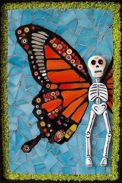 """Return to me"" - Day of the dead butterfly"