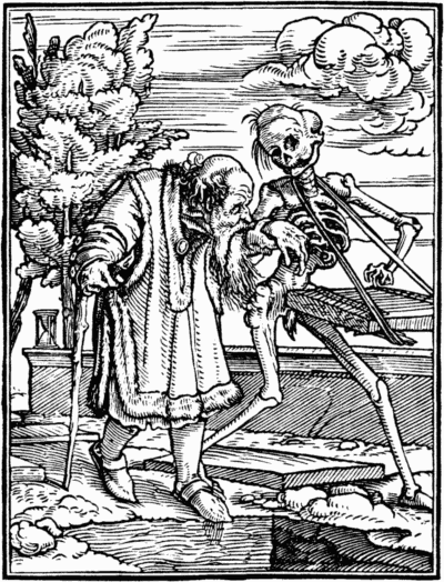Death and the Old Man by Hans-Holbein the Younger, ~1538