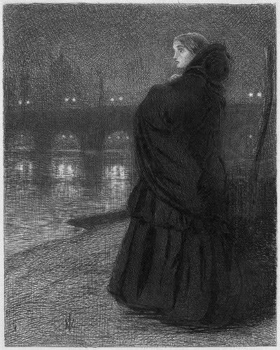 John Everett Millais (1829-1896) - 'The Bridge of Sighs'
