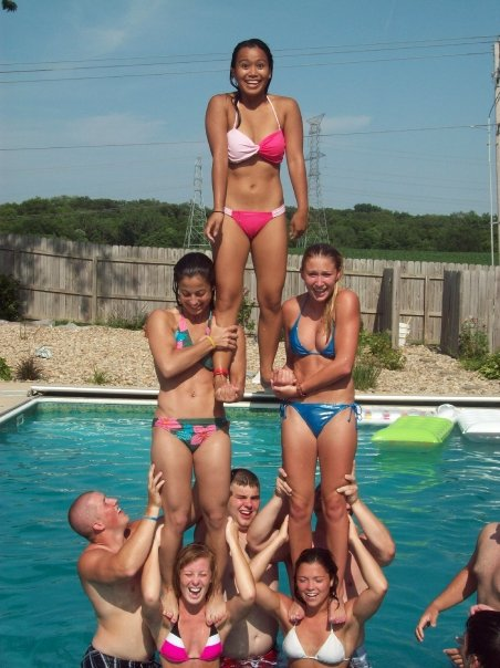drakesdrumuk Bradley University Cheerleaders Pool Party