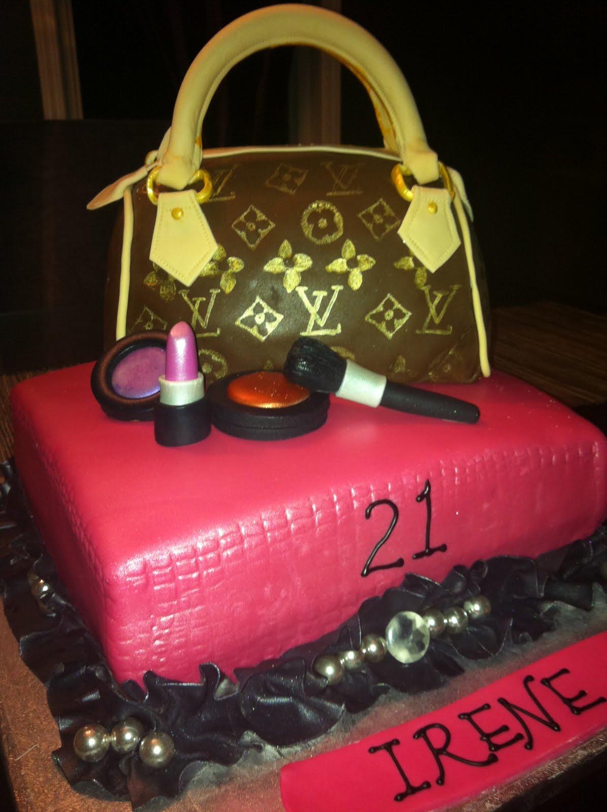 Jocelyns Wedding Cakes And More Louis Vuitton Purse Cake Edible 21st Birthday