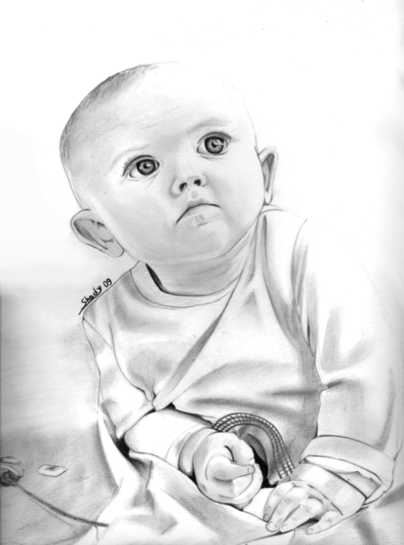 Free High Resolution Pictures: pencil drawings baby images ...