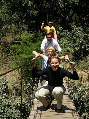 Swing bridge in Serengeti