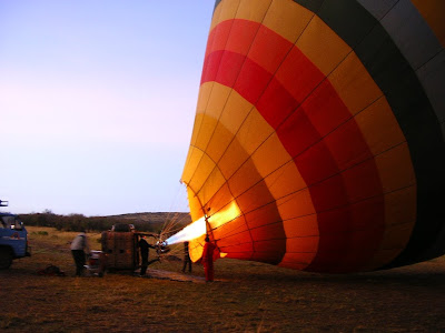 Balon umflandu-se in Africa