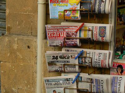 """Imagini Nicosia: ziare romanesti in Cipru """"Ziarul Romanilor"""""""