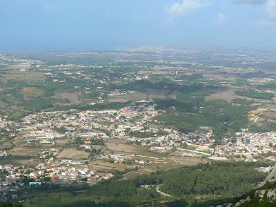 Imagini Portugalia: panorama Sintra din Castelul Maurilor