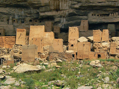 Obiective turistice Pays Dogon: sat traditional african din Mali