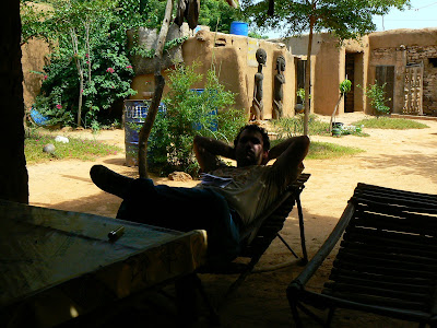 Imagini Pays Dogon: in campement la pranz