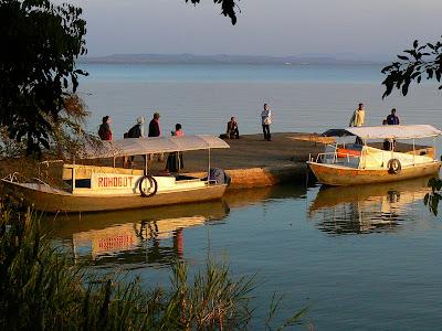 Imagini Etiopia: debarcader peninsula Zege, lacul Tana