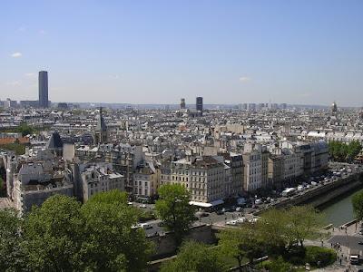 Imagini Franta: panorama din Notre Dame de Paris
