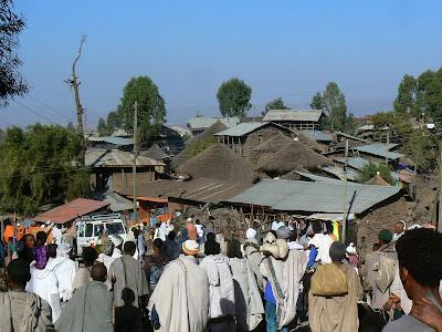 Imagini Etiopia: pelerini la Lalibela