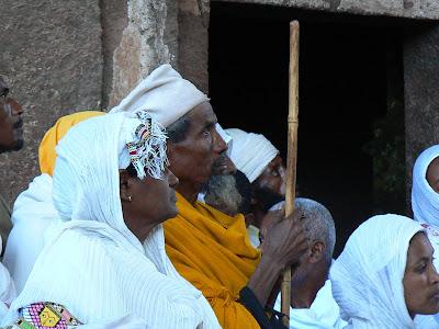 Imagini Etiopia: Craciun la Lalibela Beta Maryam pelerini