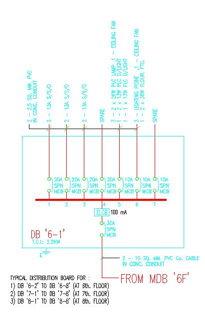 apartment electrical wiring diagram