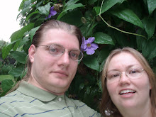 Steve & I by Jamaican flowers