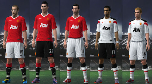 cheap for discount 2184c 6c7e7 Manchester United 10/11 Player Kits by 3beckham - PESEdit Blog