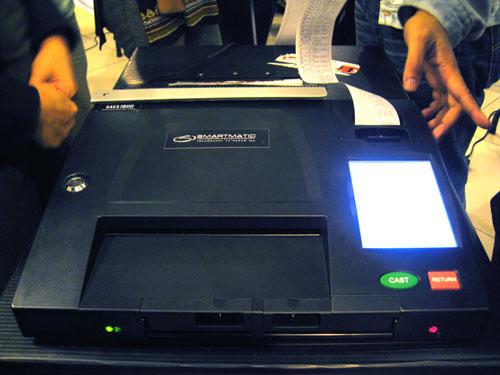 Smartmatic Election Machines.