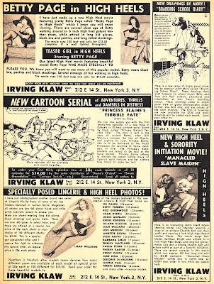 1950s ads for bondage/fetish books