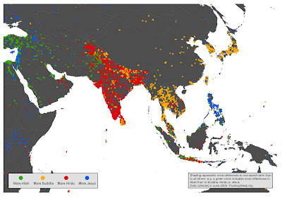 Religious Map Of Asia.Floatingsheep Google S Geographies Of Religion