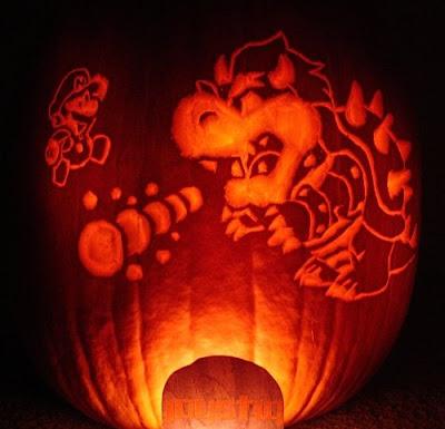 Mario vs Bowser Pumpkin